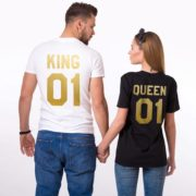 King 01, Queen 01, White/Gold, Black/Gold