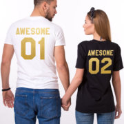 Awesome 01 Awesome 02, White/Gold, Black/Gold