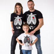 Maternity Shirt, Family Shirt, Dad, Mom, Kid, Black, White
