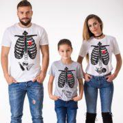 Maternity Shirt, Family Shirt, Mom, Dad, Kid, White, Gray