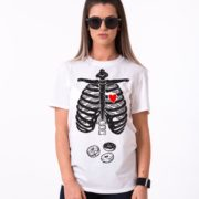 Skeleton and Donuts Shirt, Woman, White