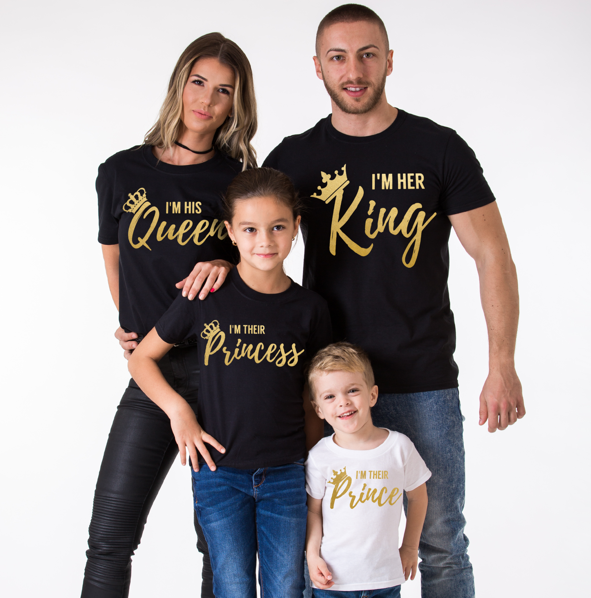 king queen family her king his queen their prince their princess. Black Bedroom Furniture Sets. Home Design Ideas