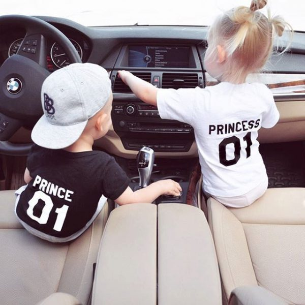 Prince Princess Kids, Black/White, White/Black