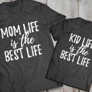 Mommy and me outfits, Mom life is the best life, Kid life is the best life, Momlife shirt, Mom life,  Set of 2, UNISEX 4