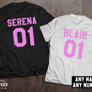 Serena Blair t-shirts, Bff shirts, Set of two matching shirts for best friends, UNISEX 3