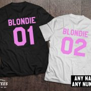 Blondie 01 Blondie 02, Blondie shirts, Bff shirts, Set of two matching shirts for best friends, UNISEX 4
