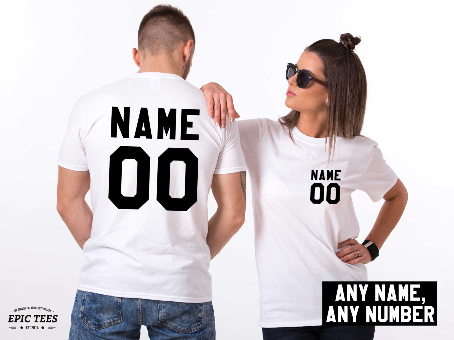 Custom Name And Number Matching Couples Shirts Awesome