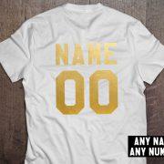 Custom shirt, Personalized name shirt, Custom numbers shirt, Any name, Any number, UNISEX 4