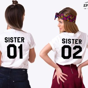 Sister 01 Shirts, Matching Best Friends Shirts, Unisex