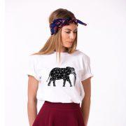 Elephant Shirt, White/Black