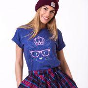 Cat Princess Shirt, Blue/White/Pink