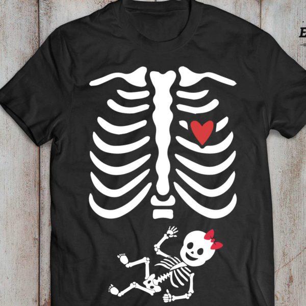 Halloween maternity shirt, maternity shirt, skeleton baby shirt, halloween shirt, Baby girl, UNISEX 2
