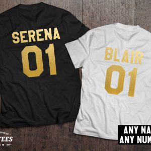 Serena Blair t-shirts, Bff shirts, Set of two matching shirts for best friends, UNISEX