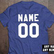 Custom shirt, Personalized name shirt, Custom numbers shirt, Any name, Any number, UNISEX 5