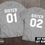 Sister shirts, Sister 01, Sister 02, Siblings shirts, UNISEX 5