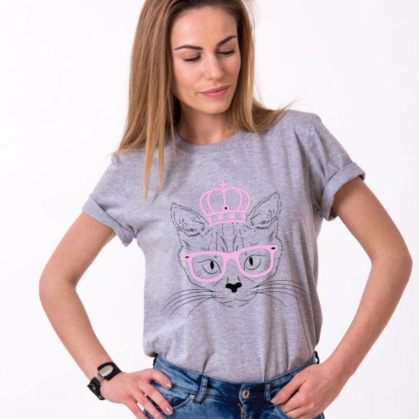 Cat Princess Shirt, Gray/Black/Pink