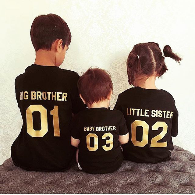 Picture For Brother Sister: Big Brother Little Sister Baby Brother, Matching Kids Shirts