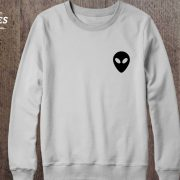 Alien Sweatshirt, White/Black