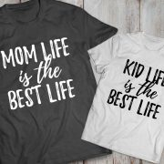 Mommy and me outfits, Mom life is the best life, Kid life is the best life, Momlife shirt, Mom life,  Set of 2, UNISEX 2