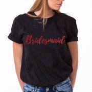 Bridesmaid Shirt, Black/Red