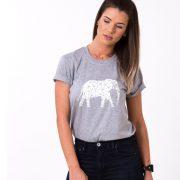 Elephant Shirt, Gray/White