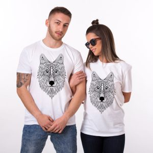 Wolf Animal Shirts, Matching Couples Shirts