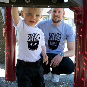 Fries, Matching Daddy and Me, Daddy Kid Shirts
