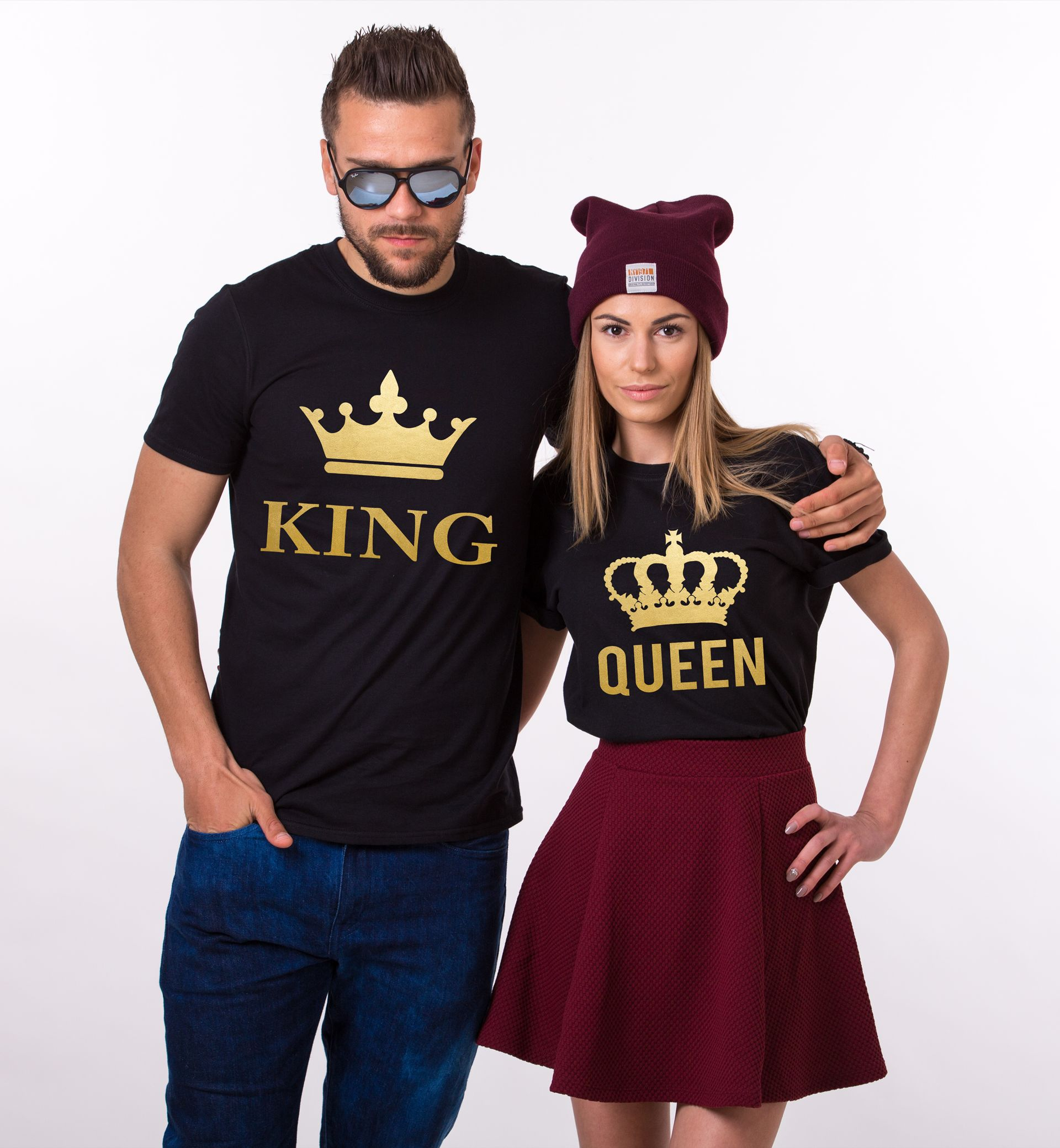 King Queen Couples Shirts, Matching Shirts, Couples T-Shirt