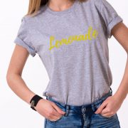 Lemonade Shirt, Gray/Gold