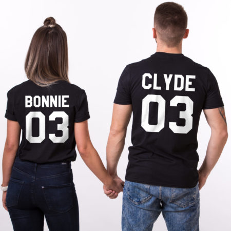 Bonnie Clyde 03, Matching Couples Shirts