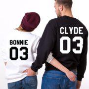Bonnie Clyde 03, Sweatshirts, Black/White, White/Black