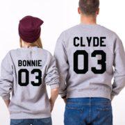 Bonnie Clyde 03, Sweatshirts, Gray/Black