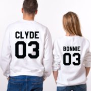 Bonnie Clyde 03, Matching Couples Sweatshirts