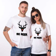 Oh deer, Oh deer Christmas shirt, Oh deer shirt, Santa shirt, Matching couple Christmas shirts, Christmas shirt, Christmas t-shirt, UNISEX 3