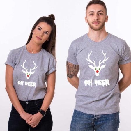 Oh deer, Oh deer Christmas shirt, Oh deer shirt, Santa shirt, Matching couple Christmas shirts, Christmas shirt, Christmas t-shirt, UNISEX
