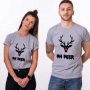 Oh deer, Oh deer Christmas shirt, Oh deer shirt, Santa shirt, Matching couple Christmas shirts, Christmas shirt, Christmas t-shirt, UNISEX 4