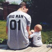 Big Man Little Man 01, Gray/Black, White/Black