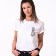 Pineapple Shirt, White/Black