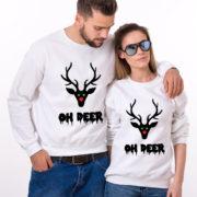 Oh deer, Oh deer Christmas sweatshirt, Oh deer sweatshirt, Matching couple Christmas sweatshirts, Christmas sweatshirt,  UNISEX 5