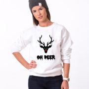 Oh deer, Oh deersweatshirt, Christmas sweatshirt, Oh deer sweatshirt,  UNISEX 4