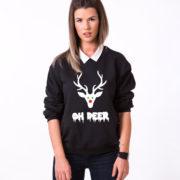 Oh deer, Oh deersweatshirt, Christmas sweatshirt, Oh deer sweatshirt,  UNISEX 2