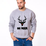 Oh deer, Deer sweatshirt, Oh deer sweatshirt, Christmas sweatshirt, Oh deer sweatshirt,  UNISEX