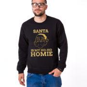Santa is my ho ho homie sweatshirt, Santa sweatshirt, Christmas sweatshirt, Christmas sweater, UNISEX 5