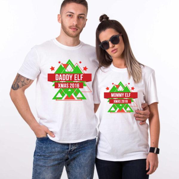 Daddy elf, Mommy elf, Christmas matching shirts, couples Christmas shirts, elf Christmas shirts, UNISEX 1