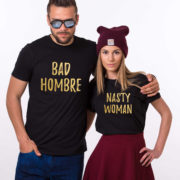 Bad Hombre Nasty Woman, Black/Gold