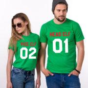 Head Elf Vice Elf matching shirts, matching couples Christmas shirts, matching couples Christmas outfits, 100% cotton Tee, UNISEX 3