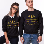 Custom name Christmas family sweatshirt, Ugly Christmas sweater, Family matching sweaters, UNISEX 3