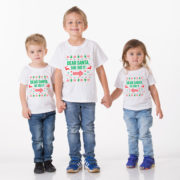 Kids Christmas shirt, Kids Christmas outfit , Sibling shirts, Dear Santa she did it, Dear Santa he did it, TWO kids shirts 5