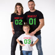 Head Elf Mommy Elf Little Elf family shirts, matching family Christmas shirts, matching Christmas outfits, 100% cotton Tee, UNISEX 2