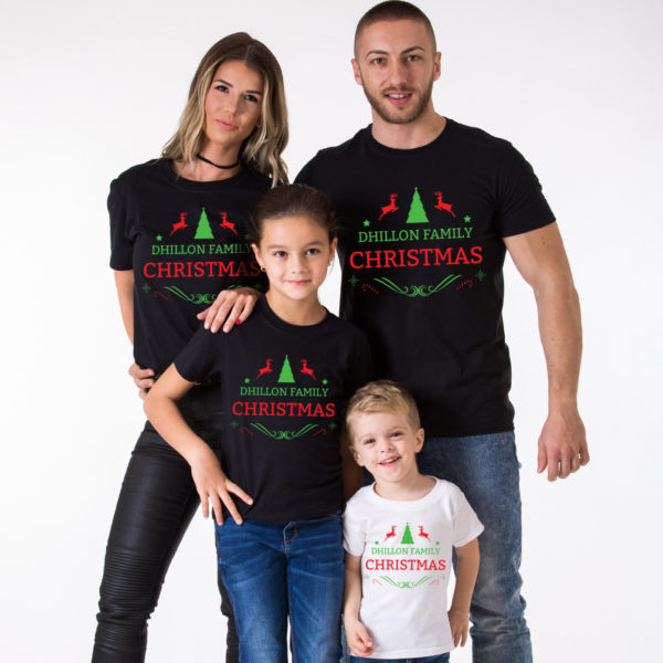 CUSTOM name set of 3 family matching Christmas shirts, matching family Christmas shirts, matching Christmas outfits,family Christmas pajamas 3
